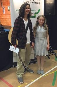 François Plante-D'amboise et Kelly-ann Tremblay, gagnants des prix du jury. Photo : Mélissa Côté
