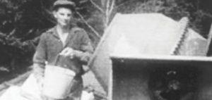 Le fondateur de Candide Villeneuve Paysagiste à ses débuts. Photo : courtoisie