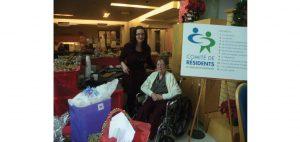 Un marché de Noël accessible était offert aux résidents! Photo : courtoisie
