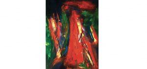 L'artiste Maurice Louis a vendu cette toile à Dubaï. Photo : courtoisie